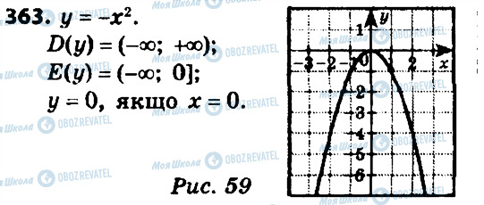 ГДЗ Алгебра 8 клас сторінка 363