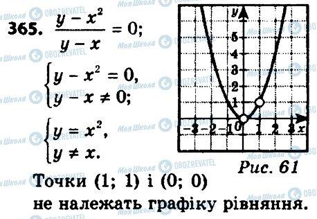 ГДЗ Алгебра 8 клас сторінка 365