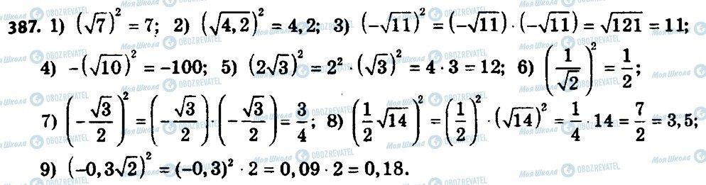 ГДЗ Алгебра 8 клас сторінка 387