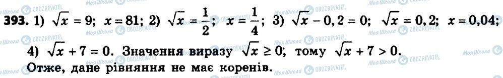 ГДЗ Алгебра 8 клас сторінка 393