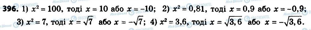 ГДЗ Алгебра 8 клас сторінка 396