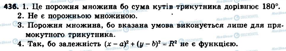 ГДЗ Алгебра 8 клас сторінка 436