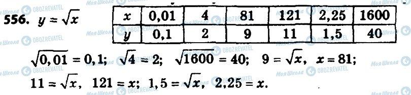 ГДЗ Алгебра 8 клас сторінка 556