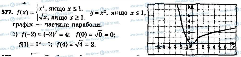ГДЗ Алгебра 8 класс страница 577