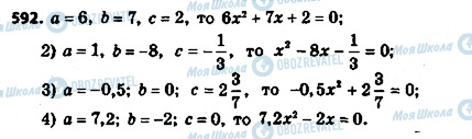 ГДЗ Алгебра 8 клас сторінка 592