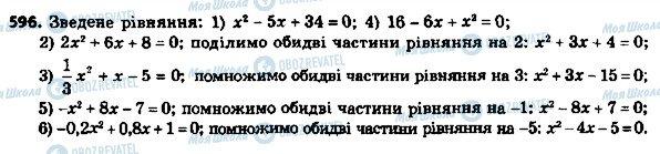 ГДЗ Алгебра 8 клас сторінка 596