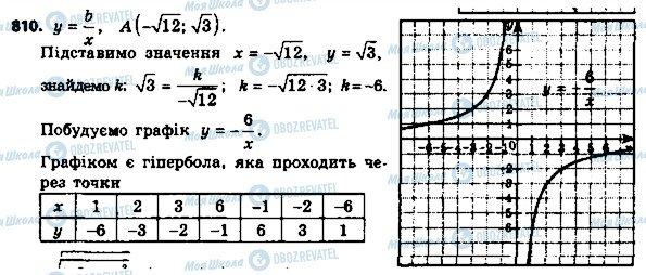 ГДЗ Алгебра 8 клас сторінка 810