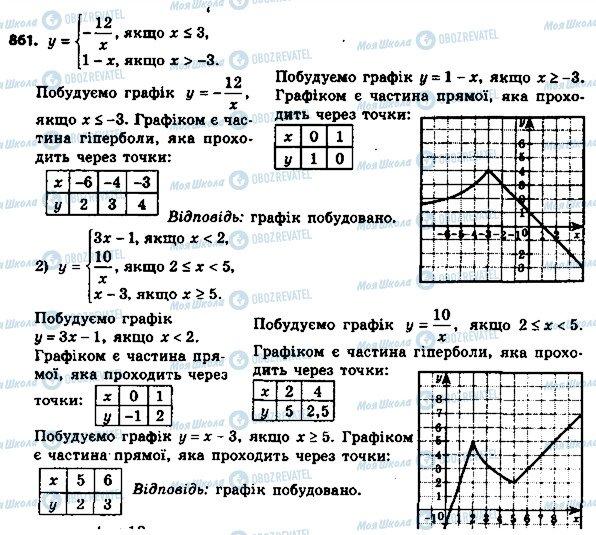 ГДЗ Алгебра 8 клас сторінка 861