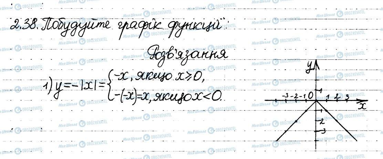 ГДЗ Алгебра 8 клас сторінка 38