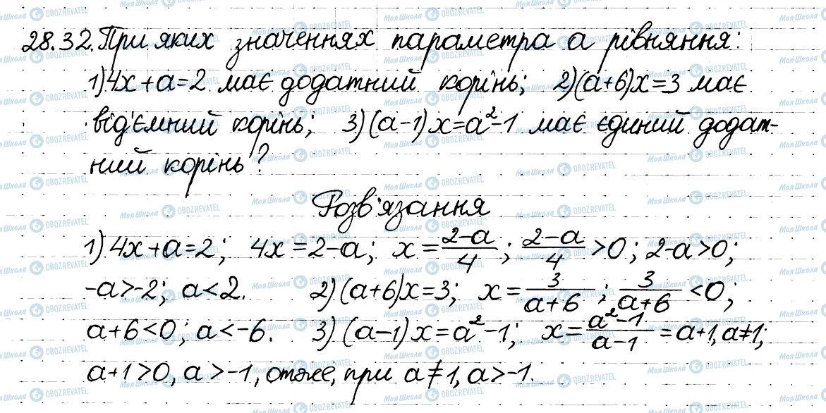 ГДЗ Алгебра 8 клас сторінка 32