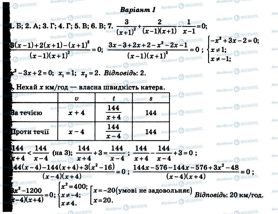 ГДЗ Алгебра 8 класс страница КР6