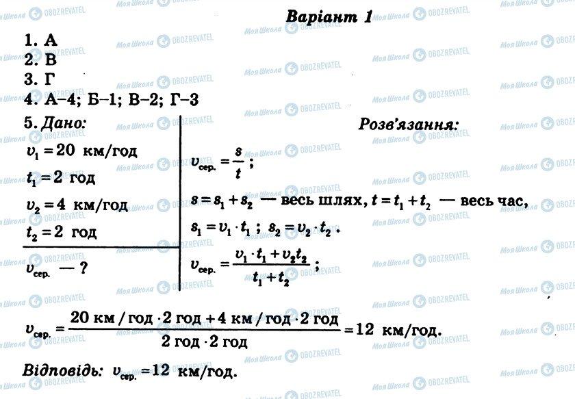 ГДЗ Фізика 8 клас сторінка СР1