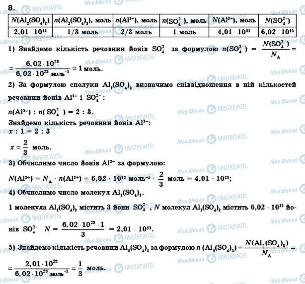 ГДЗ Хімія 8 клас сторінка 8