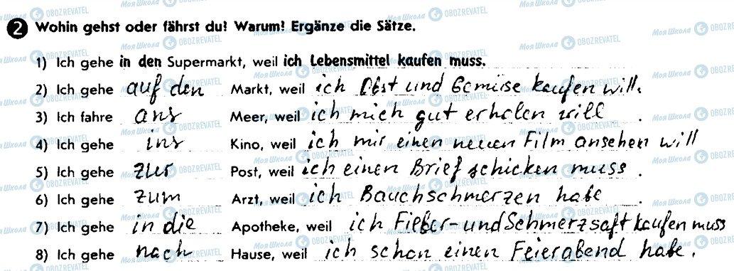 ГДЗ Німецька мова 8 клас сторінка 2