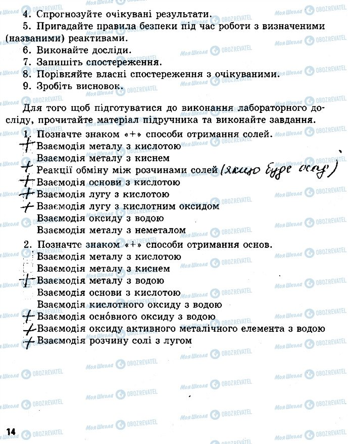 ГДЗ Хімія 8 клас сторінка ст14