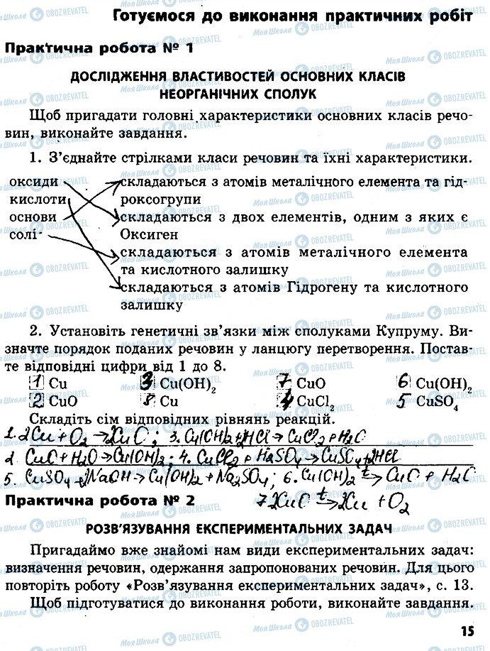 ГДЗ Хімія 8 клас сторінка ст15