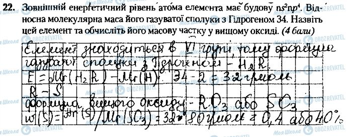 ГДЗ Хімія 8 клас сторінка 22