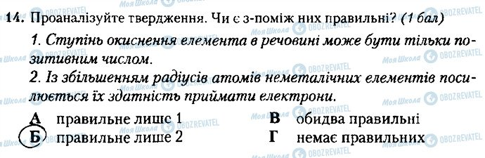ГДЗ Химия 8 класс страница 14