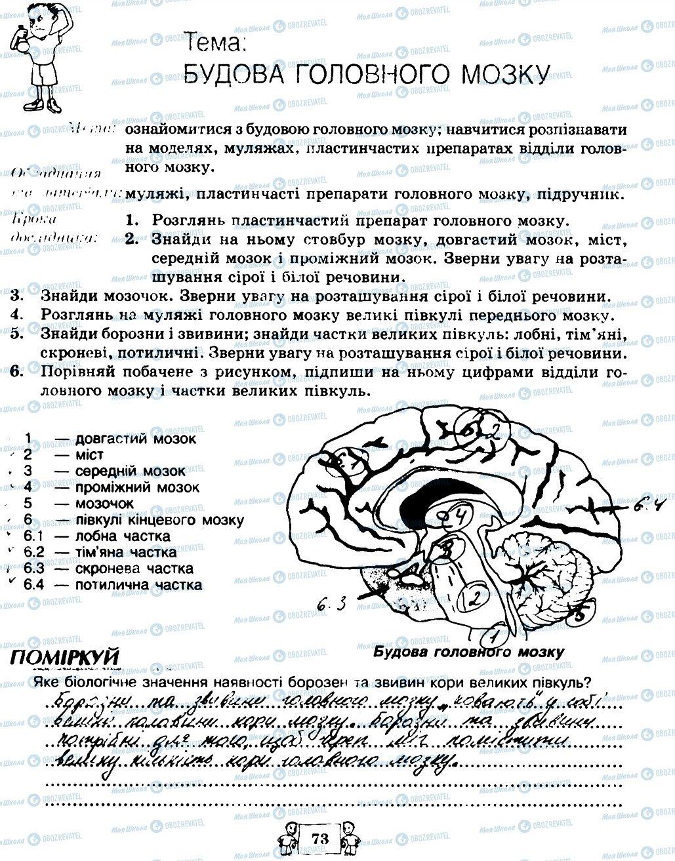 ГДЗ Биология 8 класс страница 73