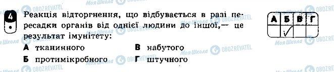 ГДЗ Біологія 8 клас сторінка 4