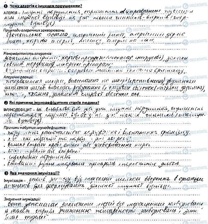 ГДЗ Биология 8 класс страница сторінка127