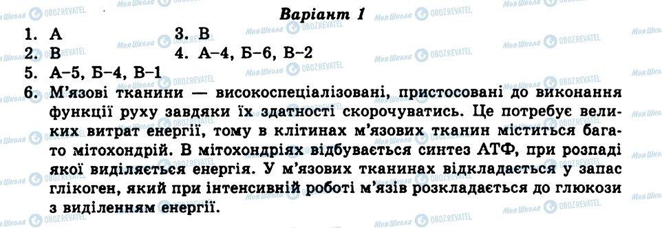 ГДЗ Біологія 8 клас сторінка СР2
