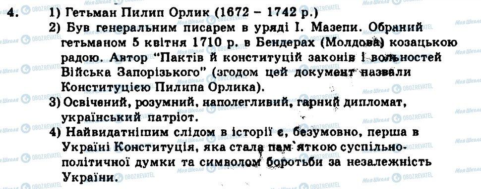 ГДЗ История Украины 8 класс страница 4