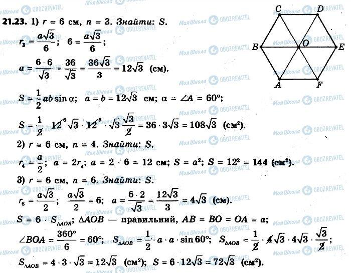 ГДЗ Геометрія 9 клас сторінка 23