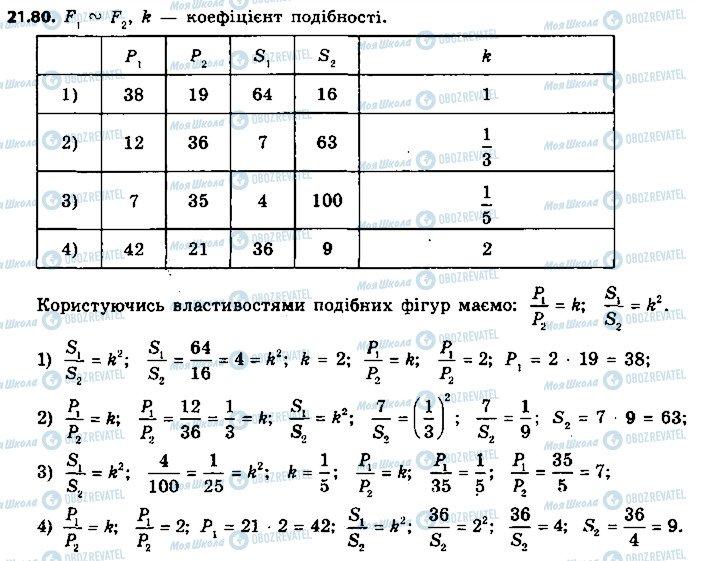 ГДЗ Геометрія 9 клас сторінка 80