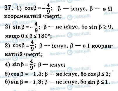 ГДЗ Геометрія 9 клас сторінка 37