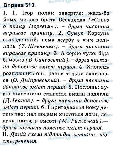 ГДЗ Укр мова 9 класс страница 310