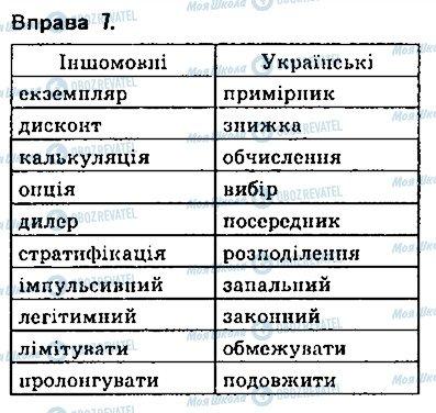 ГДЗ Українська мова 9 клас сторінка 7