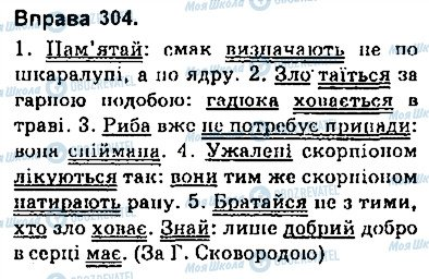 ГДЗ Українська мова 9 клас сторінка 304