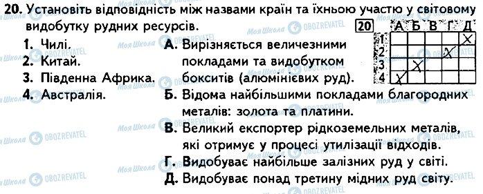 ГДЗ Географія 9 клас сторінка 20