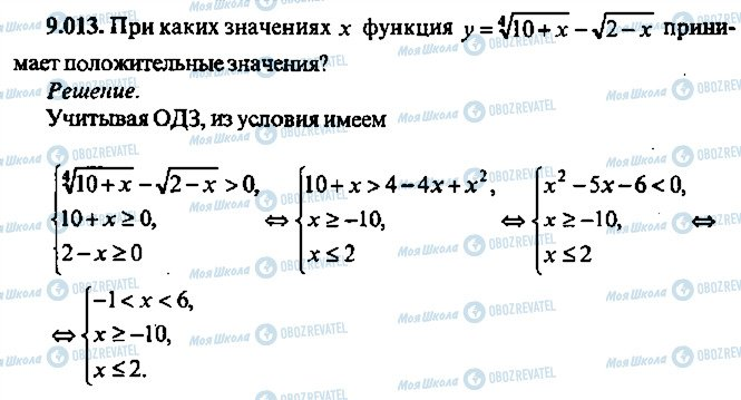 ГДЗ Алгебра 10 клас сторінка 13