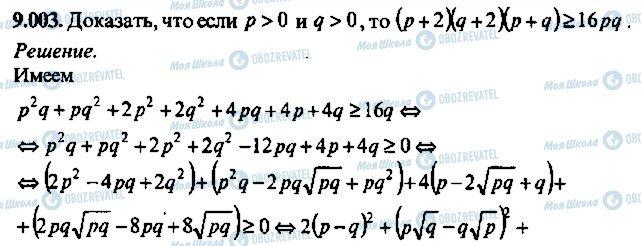 ГДЗ Алгебра 10 клас сторінка 3