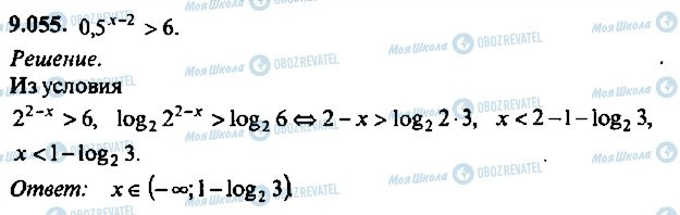 ГДЗ Алгебра 10 клас сторінка 55