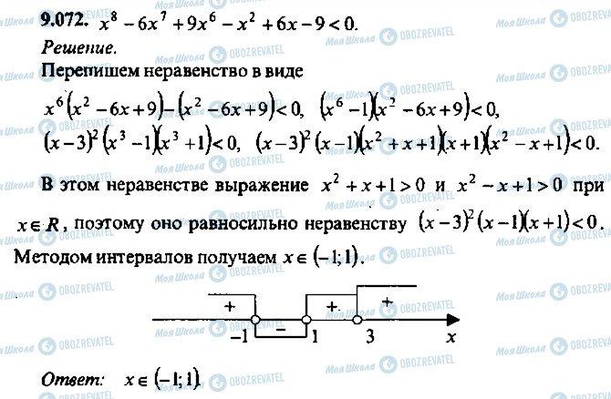 ГДЗ Алгебра 10 клас сторінка 72