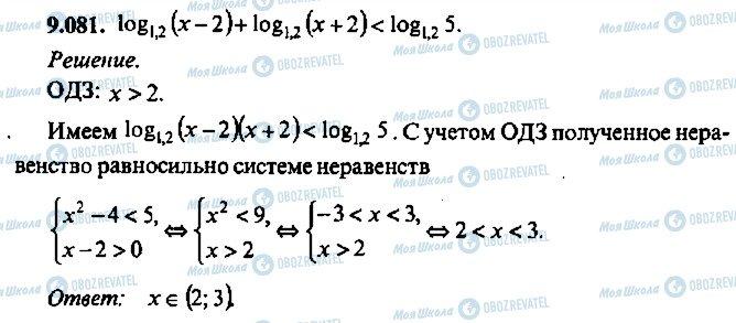 ГДЗ Алгебра 10 клас сторінка 81