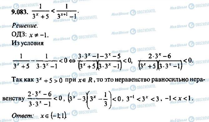 ГДЗ Алгебра 10 клас сторінка 83