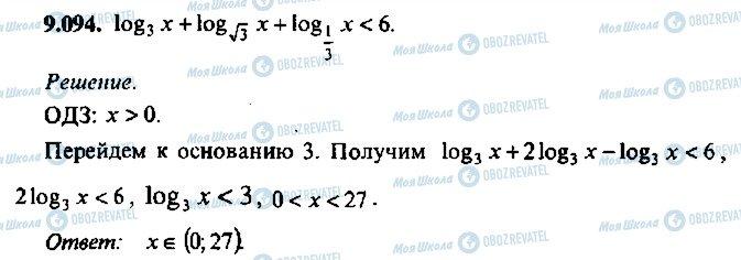ГДЗ Алгебра 10 клас сторінка 94
