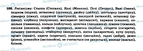 ГДЗ Укр мова 10 класс страница 166