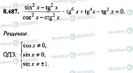 ГДЗ Алгебра 11 клас сторінка 487
