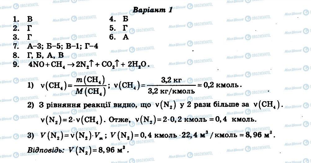 ГДЗ Хімія 11 клас сторінка КР3