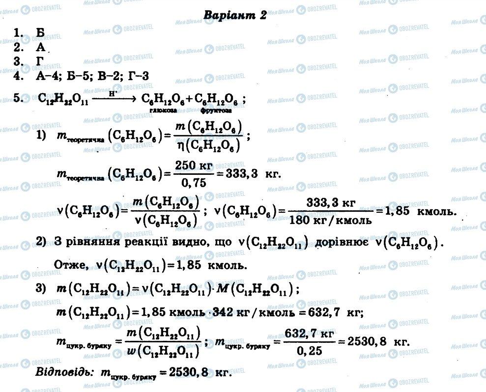 ГДЗ Хімія 11 клас сторінка СР10