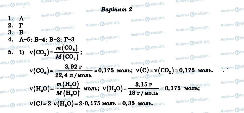 ГДЗ Хімія 11 клас сторінка СР2