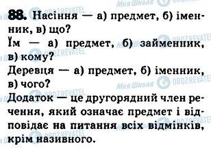 ГДЗ Українська мова 5 клас сторінка 88