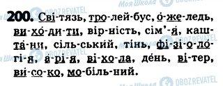 ГДЗ Українська мова 5 клас сторінка 200