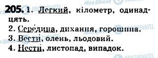 ГДЗ Укр мова 5 класс страница 205