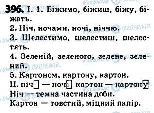 ГДЗ Українська мова 5 клас сторінка 396